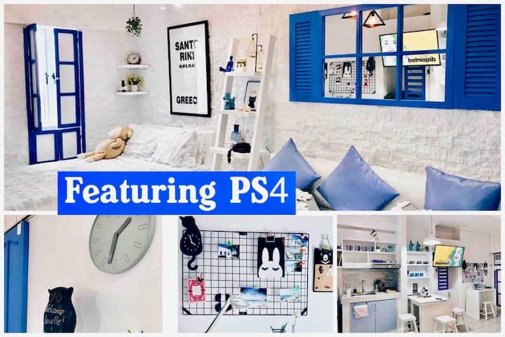 Nordic Santorini + Netflix+ PS4 + Pet Friendly