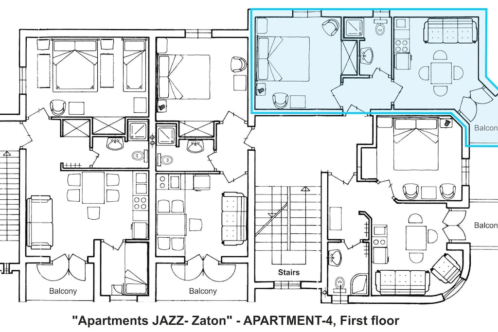 Apartment A4-Layout