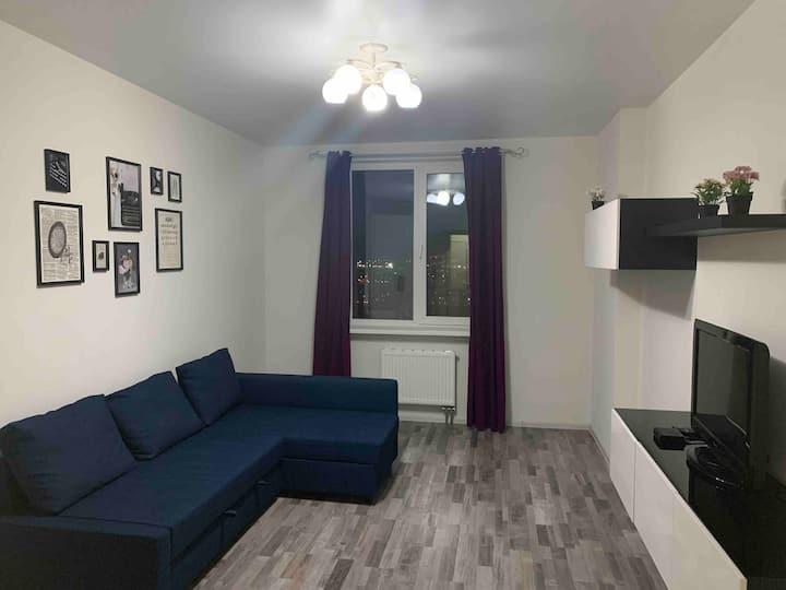 Уютная квартира с прекрасным видом на город 17этаж