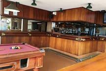 Bar at poolside resort