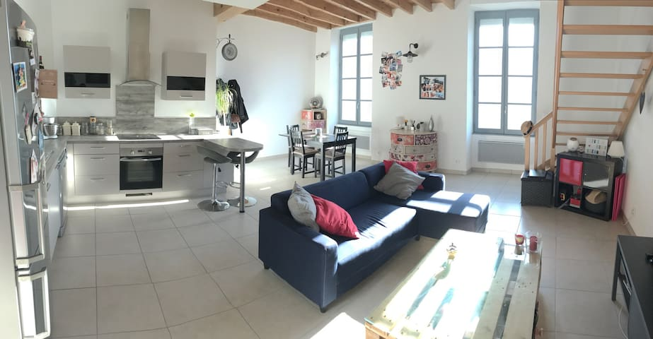 Grand appartement en centre ville - Carcassonne - Apartment