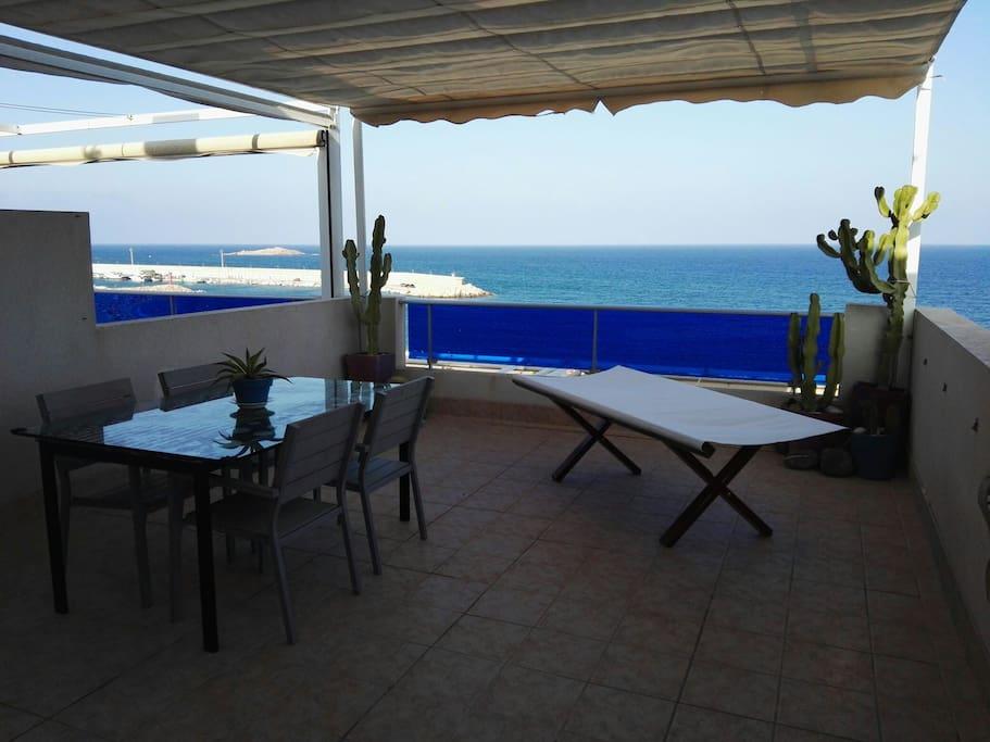 vistas al mar de la terraza 2