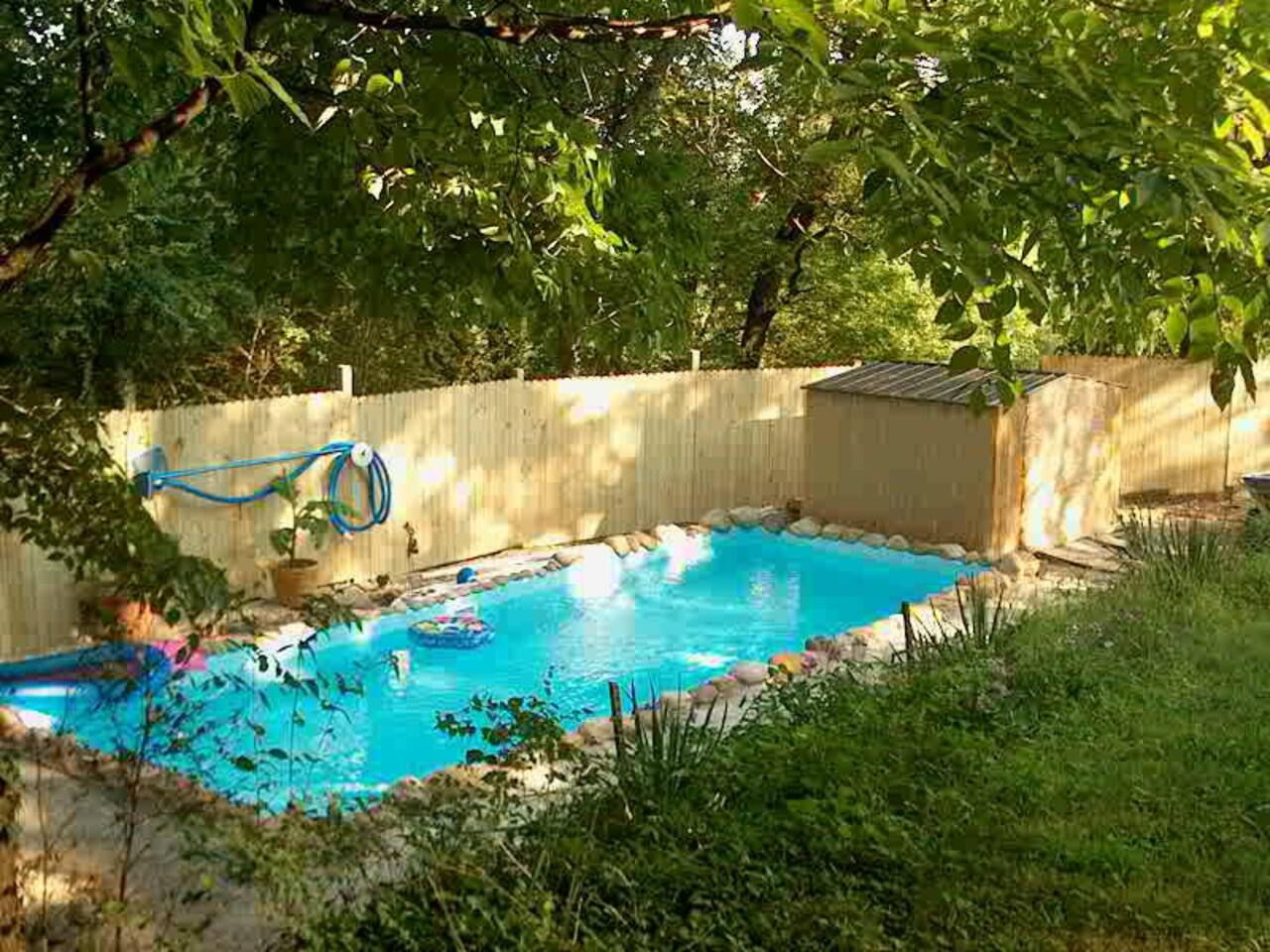 backyard oasis with pool houses for rent in chattanooga