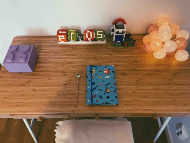 A Lego themed creative bedroom in A cozy home