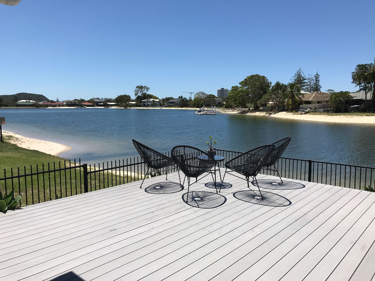 Paradise on the back deck, Burleigh hill in for ground, just of Tallebudgera Creek.