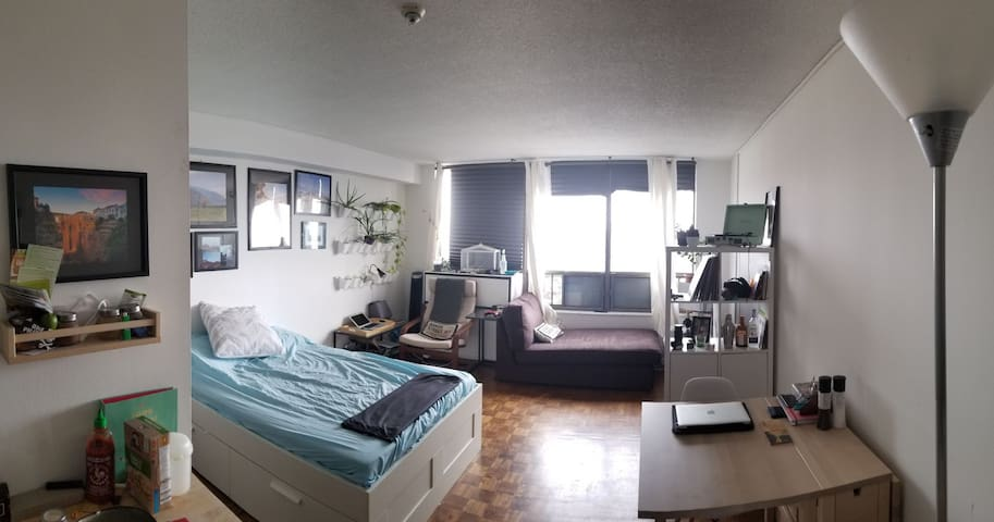 Cute Skyline View Studio Apartment