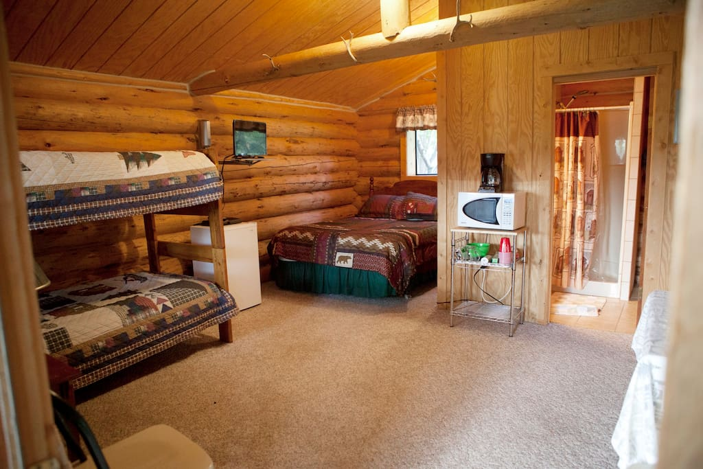 Beds in the Sheep Mountain Cabin