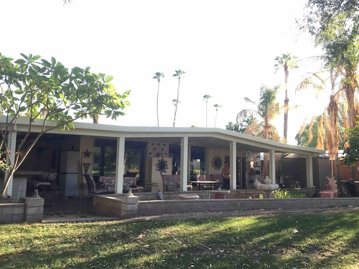 Cathedral City Home on the Green with a View
