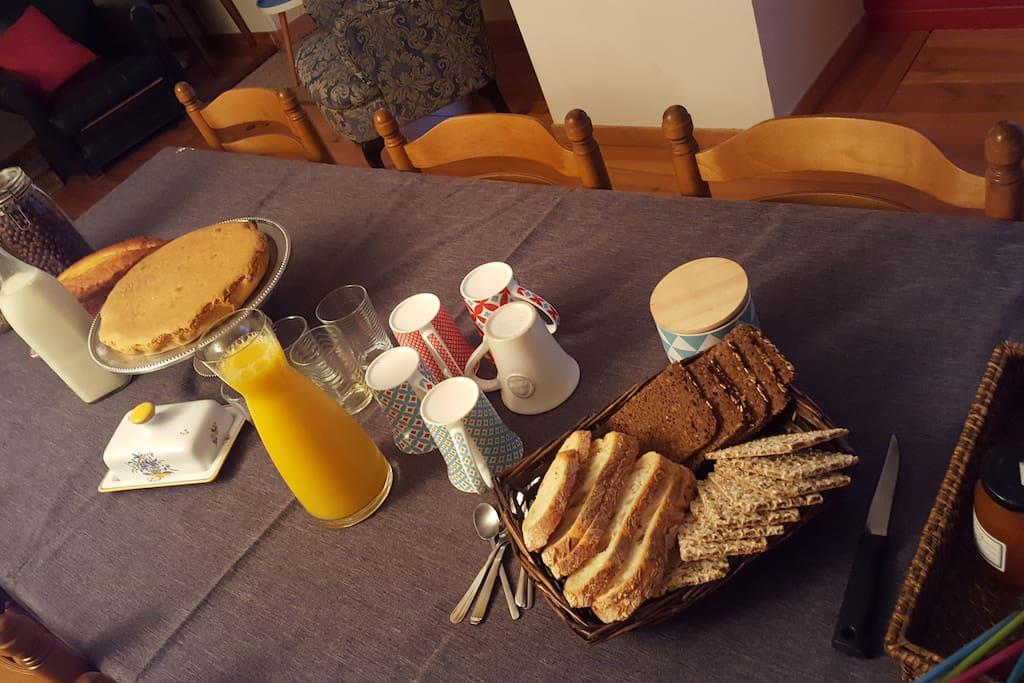 Exemple de petit déjeuner proposé