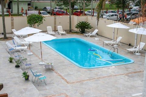 Ap. Suíte c/ piscina 100m do mar, Tramandaí, Wifi