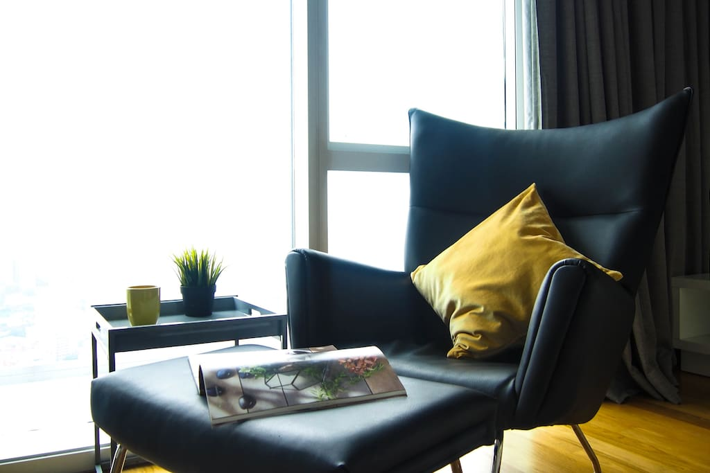 Indulge yourself in a magazine or a good book at our Relaxing corner