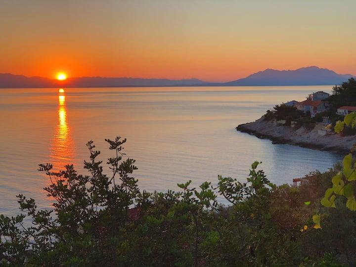 Amazing view of sunset and sunrise