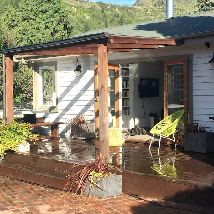 French doors open up onto large deck
