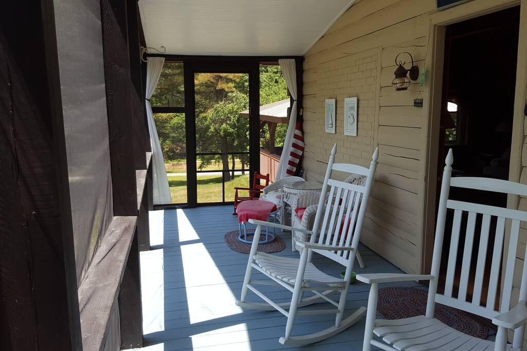 Screened in porch - have your morning coffee overlooking the beautiful scenery