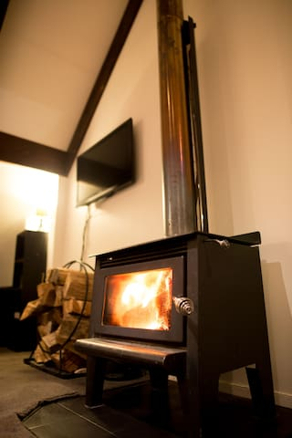 This log burner rips..and dries your gear in no time.