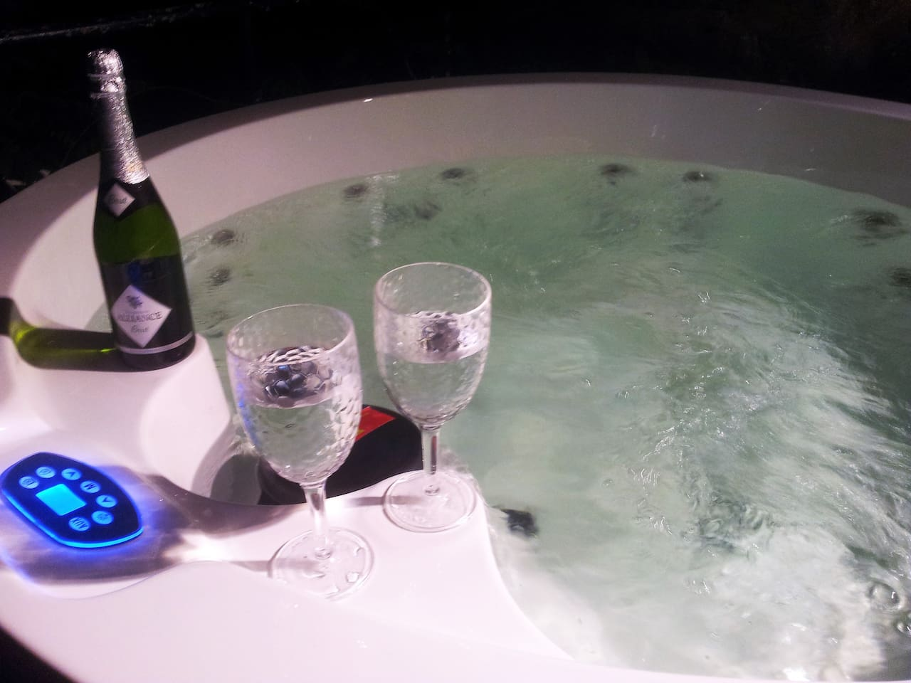 Your hot tub is warm and bubbly and waiting for you ...