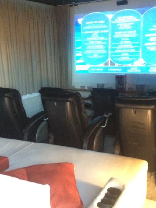 Cinema with massage sofas