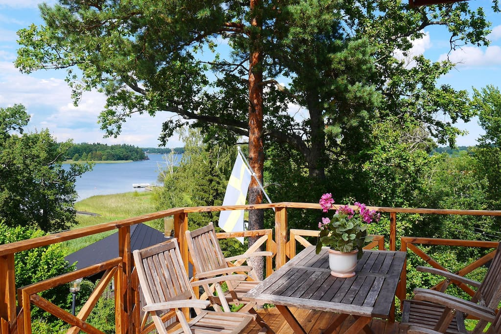 Beautiful balcony views of the Stockholm Archipelago