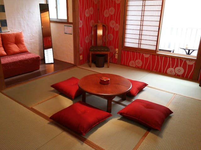 Red room-Super Central near Gion! - Kyoto-shi Shimogyo-ku - Huis