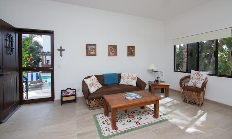 Pool casita living room