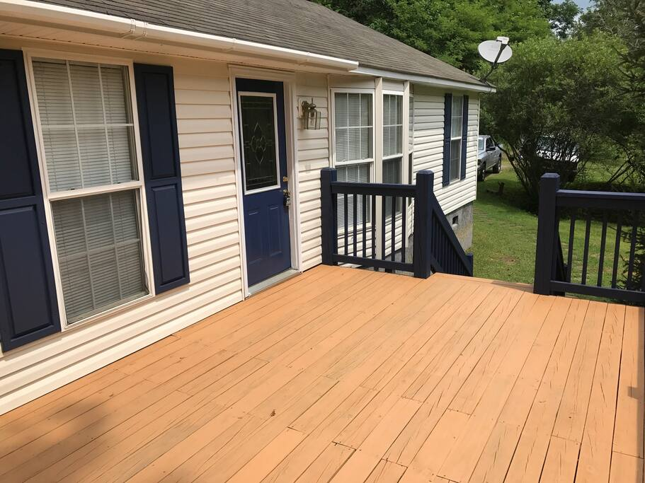 Newly redone deck