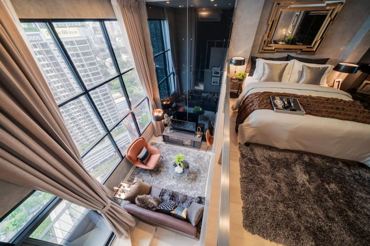 Comfy Luxurious 1BR Loft Near BRT & BTS