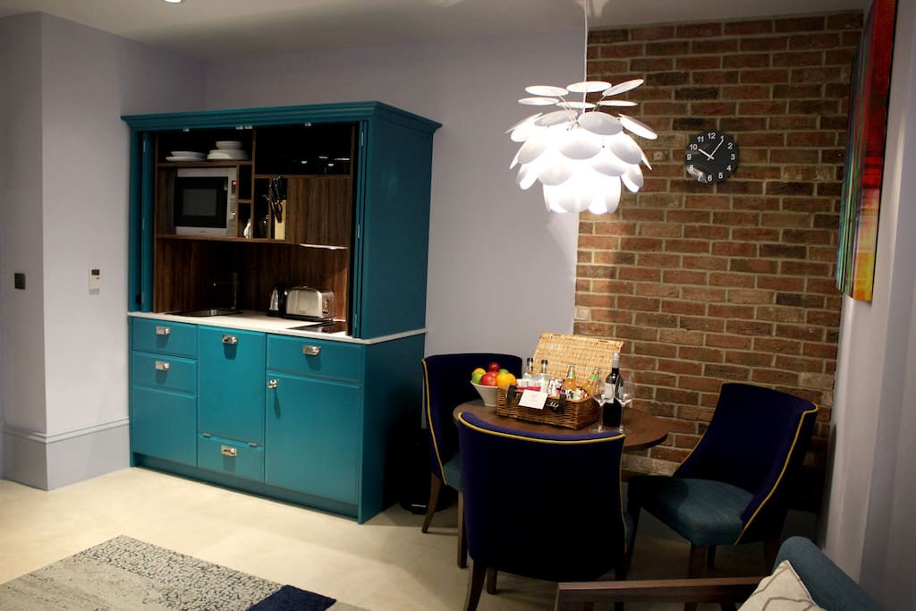 Dining area and kitchenette