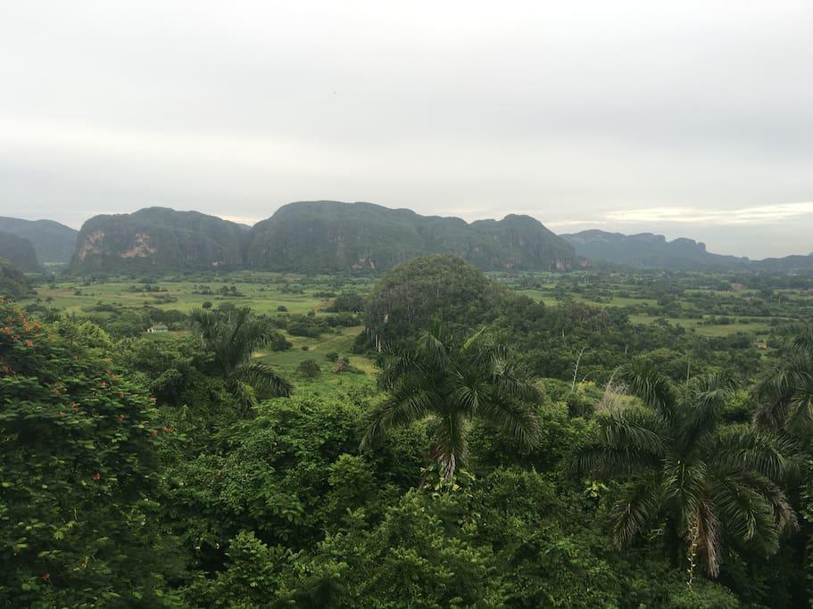 Vista del valle de Viñales