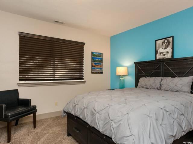 Basement bedroom 2 with queen bed