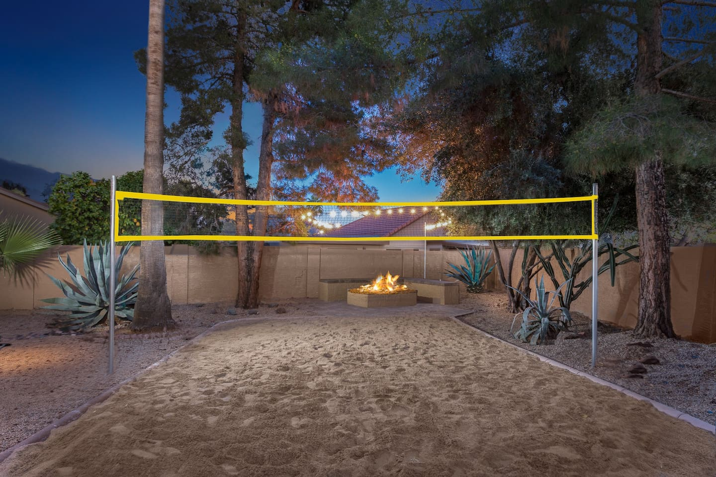 lux kierland sand volleyball court and firepit houses for rent