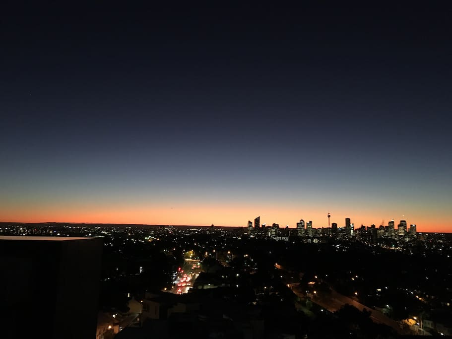 Actual sunset view from top roof garden