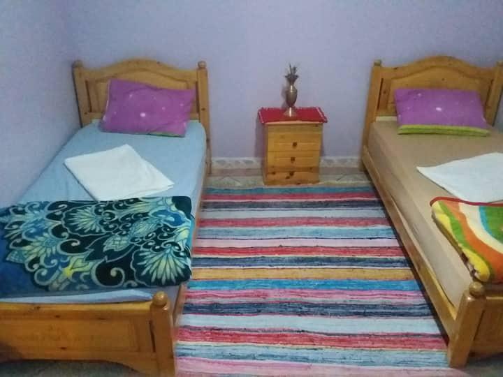 Chambre#1 - 2 pers. dans maison marocaine rooftop
