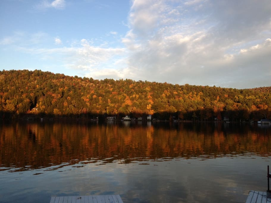 An Autumn View from the Shore