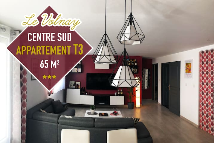 LE VOLNAY ★ Appartement moderne 65m2 centre-sud