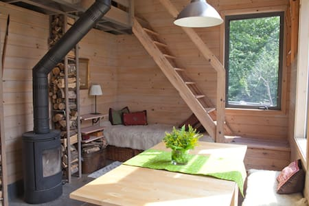 Rustic atelier on the mountain