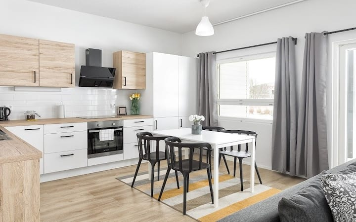 Two Bedroom Apartment with Terrace and Sauna