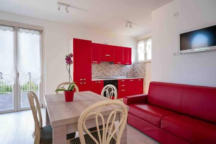 Monolocale Suite 6 con panorama Conero in campagna