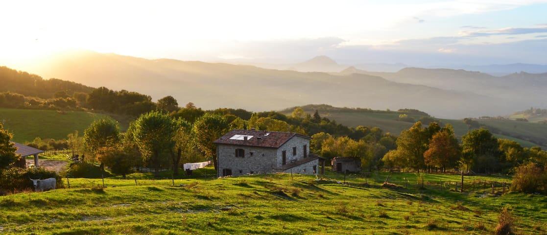 Agriturismo Bio L'A Ceccoli_Stanza Aquamarina - Sassofeltrio