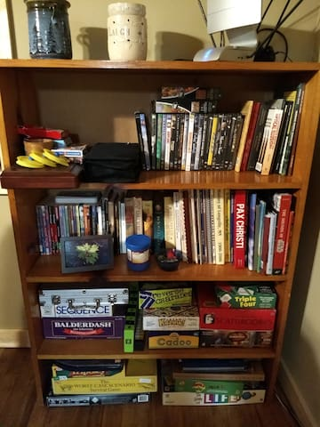 Movies, games and books to enjoy during your stay.