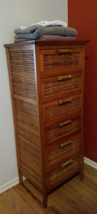 Plenty of storage in a Balinese chest of drawers.
