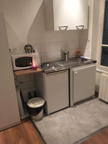Charmant studio équipé - Lyon - Apartmen