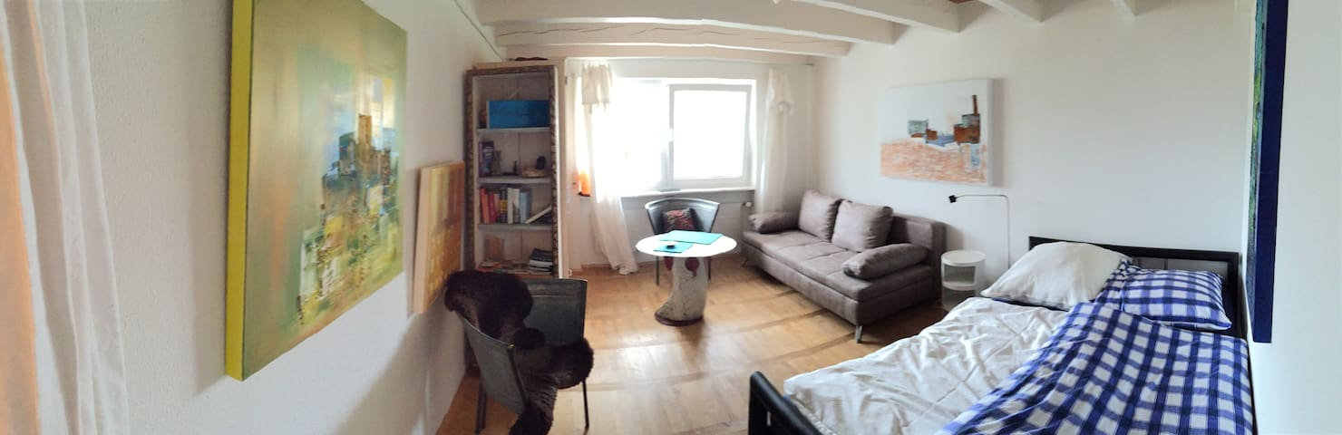 Small apartment lovely arranged with own art - Salem - Townhouse