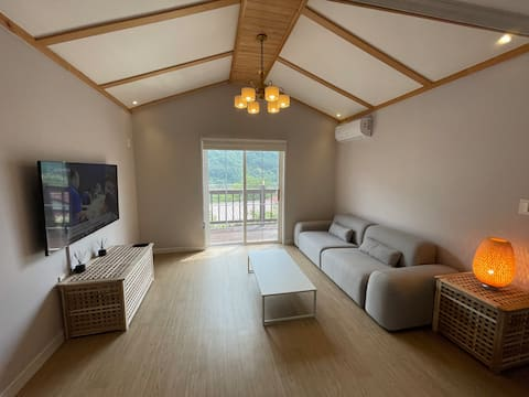 A fully furnished with modern interior house