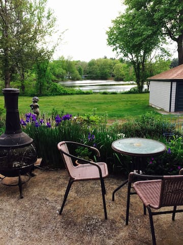 Studio overlooking the pond. - Hopedale
