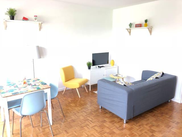 Appartement cosy avec terrasse plein-sud à Nantes