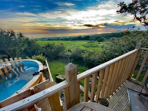 令人驚嘆的牧羊人小屋,配有浴缸和海景