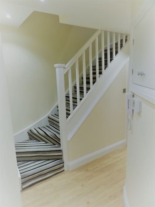Staircase down to Flat