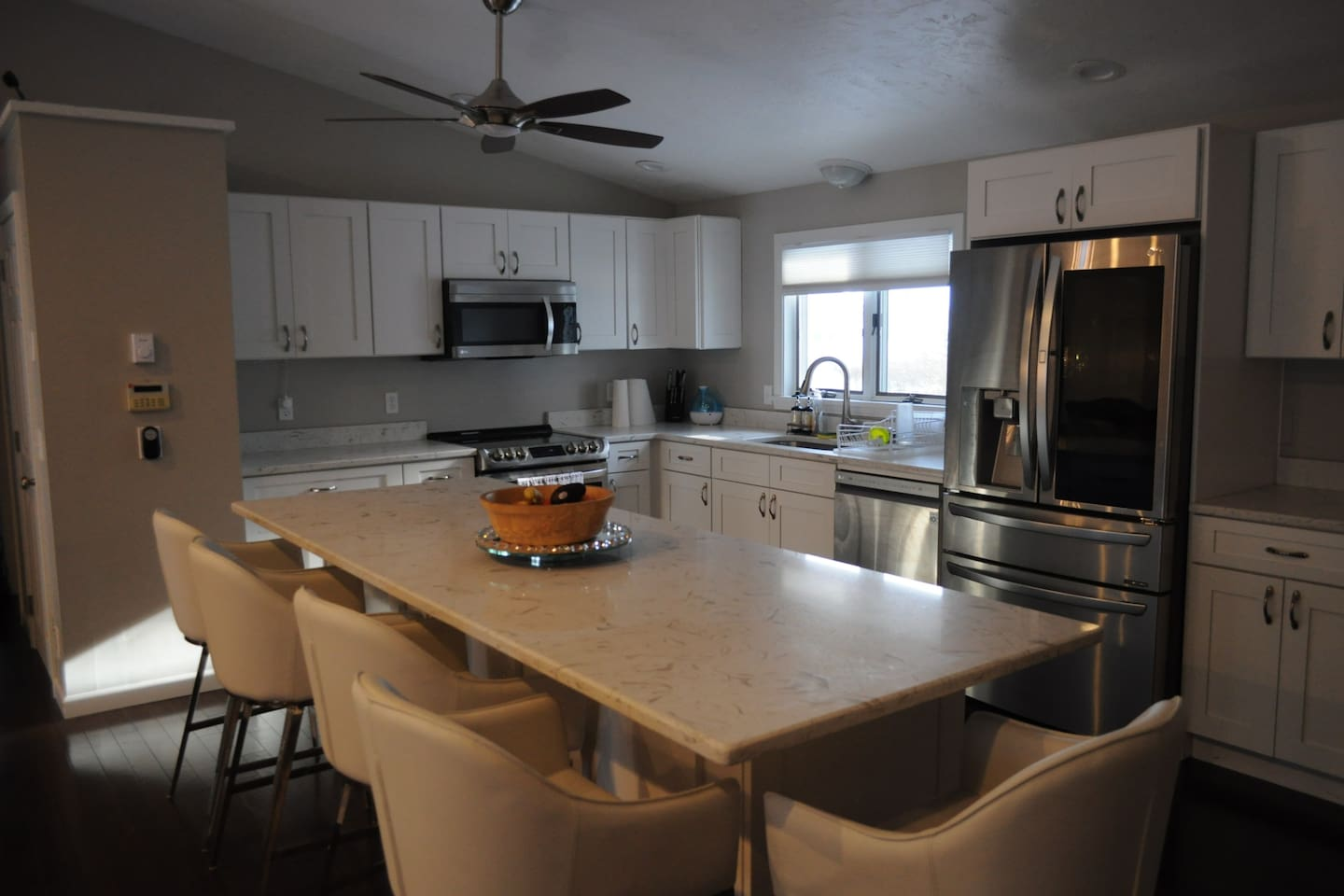 Large, spacious, beautiful, clean kitchen for your use.