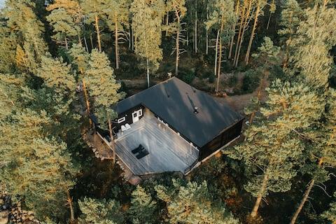 Mossala Island Villa with a seaview and a sauna