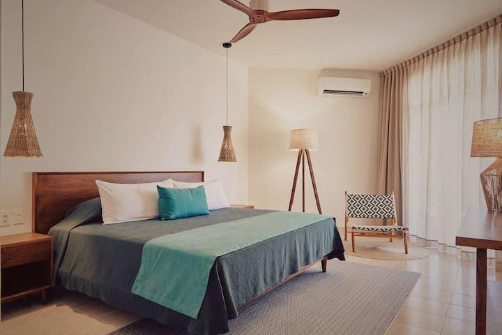 Room 3 · 3. Ocean View Room at Tankah Tres Bay - Tulum